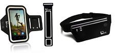 Revere Sport Cell Phone Arm Band Case, Extender, &Belt iPhone 6 / 6s / 5 - Black