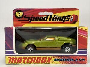1971 Matchbox Lesney SPEEDKINGS K-30 MERCEDES c 111 GREEN Super nice condition 1