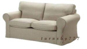 IKEA Ektorp Loveseat Slipcover Risane Natural Ektorp Two Seat Sofa Cover  NEW