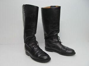 Chippewa 27950 Black Leather Trooper Scalla Patrol Boots Laces Size Men's 9D