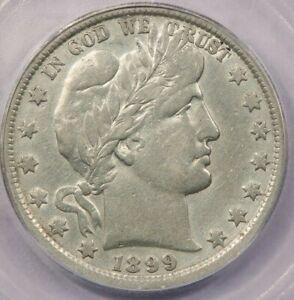 1899-P 1899 Half Dollar Barber 50c ICG VF 20 Details