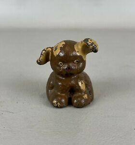Antique U.B. United Brethern Cast Iron Pup Dog Paperweight (I)