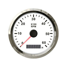"""3.4"""" 85mm 0-6000RPM Car Auto Tach Tachometer Gauge With Hour meter LCD display"""