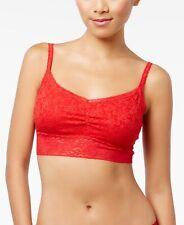 Jenni by Jennifer Moore Womens Holiday Lace-Trim Bra Licorice Red Size Medium