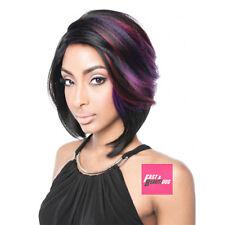 NEW! ISIS Brown Sugar Human Hair Blend Full Wig - BS115 DEEP PARTED BOB STYLE
