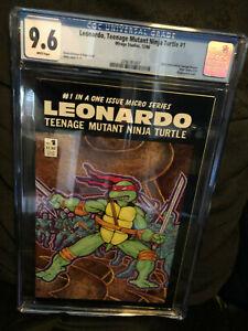 LEONARDO, TEENAGE MUTANT NINJA TURTLE TMNT 1 CGC 9.6 WP MIRAGE