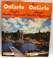 ONTARIO CANADA SOUVENIR TOURISM TRAVEL INFORMATIONAL BROCHURE GUIDE 1952 VINTAGE
