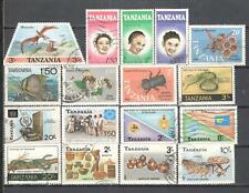 S8838 - TANZANIA 1986 - LOTTO 16 TEMATICI DIFFERENTI - VEDI FOTO