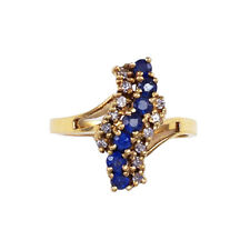 10kt Yellow Gold Sapphire and Diamond Ring