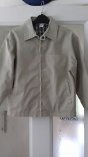 Adams boys age 7 jacket stone with blue check lining adjustable velcro cuffs