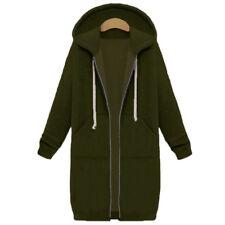 Womens Fashion Warm Open Hoodies Sweatshirt Long Coat Jacket Top Outwear Vertvie