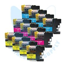 12 Color LC203XL LC201 compatible Ink Cartridges for Brother printers + NEW CHIP