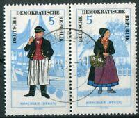 DDR 1074 - 1075 Zusammendruck W Zd 145 gestempelt Michel 50,00 € Volkstrachten
