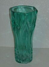"""Sklo Union Vase Rosice Lens Glass Czech Vtg Bullet Mid Century Modern 9.5"""""""