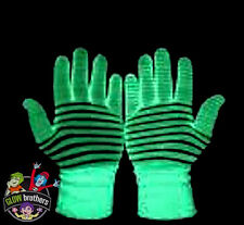 1 X PAIR OF GLOW IN THE DARK GLOVES. UV,NEON,GLOW STICKS