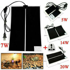 5/7/14/20W Reptile Vivarium Heater Heating Mat Warm Pad Thermostat Controller