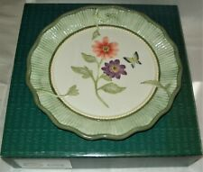 2006 Fitz & Floyd Canape Plate/Madeline's Garden/Mint in Box