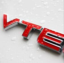 VTEC Logo Car Letter Sticker Auto Fender Decal Chrome Emblem For Honda Red Metal