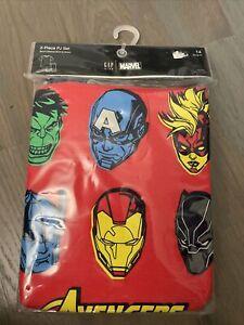 NWT Gap kids boy Avengers superhero red short sleeve SUMMER pajamas SET size 14