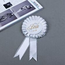 Bachelorette White Badge Rosette Hen Night Party Accessory Bridal Shower Stag