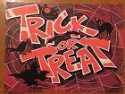 Tin Sign Vintage Halloween Trick Or Treat