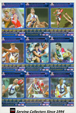 2006 AFL Teamcoach Tradinging Card Blue Foil Platinum Team Set Fremanlte (9)