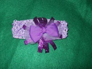 NEW ~ Adorable Headband   ~  Baby / Girls  Soft  Stretch  ~ Purple