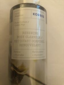 Korres Pure Cotton Renewing Body Cleanser 89.4% Natural Content 200ml New Sealed