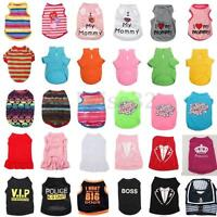 Summer Various Pet Puppy Small Dog Cat Pet Clothes Vest T Shirt Apparel 6 Size