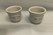 Longaberger Pottery Woven Traditions Votive Candle Holders (2) - Red - Usa