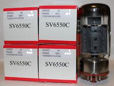 Factory Platinum Matched Quad Svetlana 6550 6550C tubes, BRAND NEW in Box !