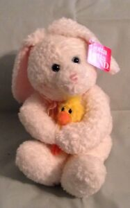 9 in seated GUND COTTONTAIL & DAZY BUNNY & DUCK NWT