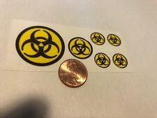 Custom Superhero Decals Biohazard Die Cut. Free Shipping!