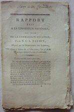 P. C. L. BAUDIN - Rapport fait à la Convention Nationale, au nom de la (1795)