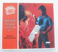 Walkie Talkie Set from Sears Christmas Wish Book Vintage Big Toy Box 1960s WORKS