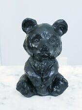 "Vintage Pennsylvania Coal Carved Black Bear Figure 3.5"" Souvenir"