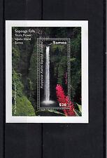 Samoa 2013 MNH Waterfall Part 2 Sopoago Falls Teuila Flower 1v S/S Flowers