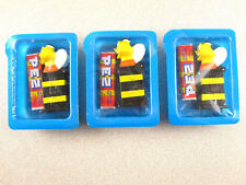 Vintage LOT 3 Honey Nut Cheerios Bee PEZ Candy Dispenser RaRe Cereal Box prize