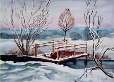 Original-direkt-vom-Künstler Antike & künstlerische Malerei mit Impressionismus für Aquarell