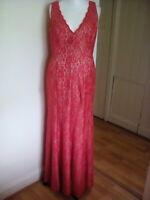 Eliza j Rackhams red long dress fully lined