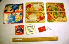 4 Vintage Needle Case ; Sewing Circle + Happy House + Stitch Sew Moms Wives Fun