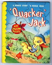 New listing Quacker Jack ~ vintage Bonnie Book with Complete Puzzle ~ many children's books!