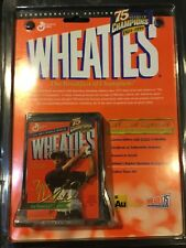 Wheaties mini collectible cereal box with Tiger Woods and his 24k gold signature