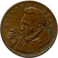 Richard Byrd Admiral Byrd's Flight Over The South Pole Token