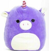 Kellytoy Squishmallow 8 Inch Astrid the Purple Unicorn Super Soft Plush Toy Pet