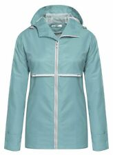 Meaneor Women's Hooded Waterproof Reflective Stripe Jacket Light Blue, XX-Large