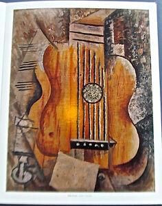 Pablo Picasso Poster  Guitar I love Eva 15.5x12 Offset Lithograph Unsigned