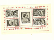 GREAT BRITAIN NATIONAL STAMP EXHIBITION STAMPEX 1962 SOUVENIR SHEET  FREE SHIP