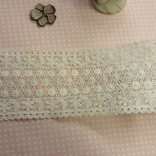 1yd Vintage Style scalloped Embroidery Cotton Fabric Crochet Lace Trim 7.5cm WD