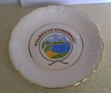 Pretty vintage souvenir decorative hanging plate from Falmouth, Cornwall